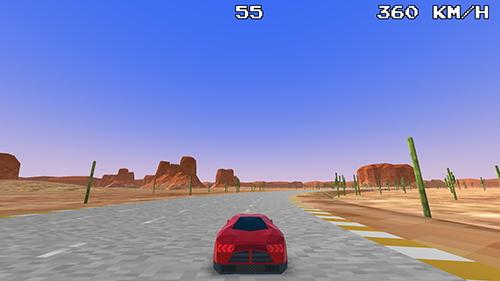 Course dans le désert